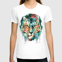 tiger T-shirts featuring TIGER by RIZA PEKER