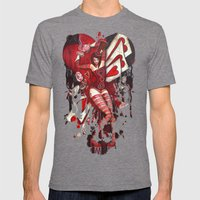 The Mad Hatter Mens Fitted Tee Tri-Grey SMALL