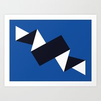 Night Time Blue Ripple (… Art Print