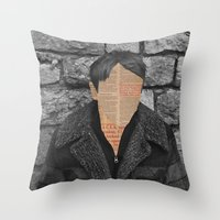 Headlines Throw Pillow
