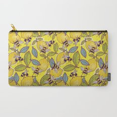 Yellow lemon and bee garden. Carry-All Pouch