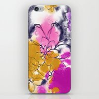 Abstract Flowers - Water… iPhone & iPod Skin