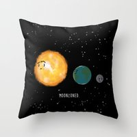 Moonzoned Throw Pillow