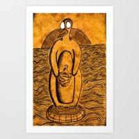 Penguinroo Art Print