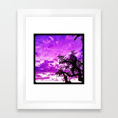 A dash of purple in the sky. Framed Art Print