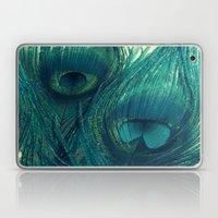 Teal Peacock Feathers Laptop & iPad Skin
