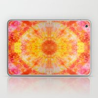 Orange Sunburst Laptop & iPad Skin
