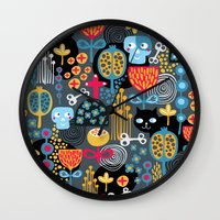 Funny cemetery. Wall Clock