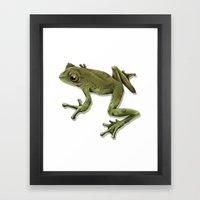 Little Frog Prince  Framed Art Print