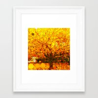 :: It Was All Yellow :: Framed Art Print