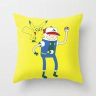 Pokemon Time Throw Pillow