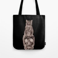 The Cat, The Skull, The … Tote Bag