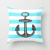 Anchored // Love Throw Pillow