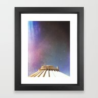 Framed Art Print featuring Tip Of Space by Doowylloh