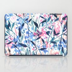 Wandering Wildflowers Blue iPad Case
