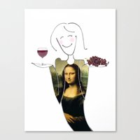 She Hearts Mona  Canvas Print