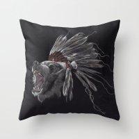 Running Bear - Updated Throw Pillow