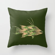 Scuba Deb's Camo Hogfish Throw Pillow