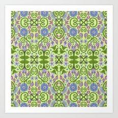 Garden Symmetry  Art Print