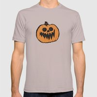 spoopy pumpkin  Mens Fitted Tee Cinder SMALL