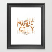 Music City Paris Framed Art Print