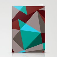 Triangle cubes Stationery Cards