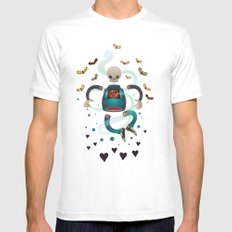 Spirit SMALL White Mens Fitted Tee