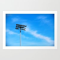 Ballpark Lights Art Print