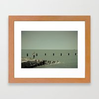 On Lake Michigan Framed Art Print