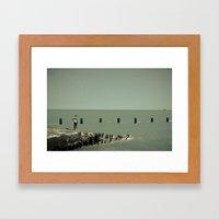 On Lake Michigan Framed Art Print