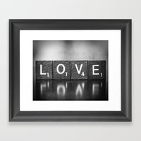 Love Is A Beautiful Word… Framed Art Print
