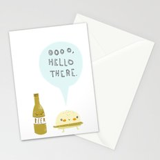 burger and beer Stationery Cards