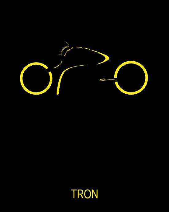 Tron Movie Poster - Minimal Art Print