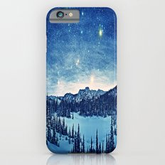 Starry Night Over the Snowy Land iPhone 6 Slim Case