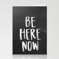 Be Here Now Chalkboard Stationery Cards