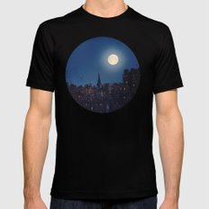 The night. Mens Fitted Tee Black SMALL