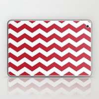 Red And White Bold Chevr… Laptop & iPad Skin