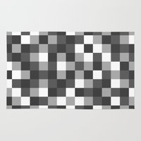 Colour Block Black And W… Rug