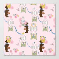 Easter Bunny Factory 12 … Canvas Print