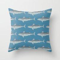 Wholly Mackerel Throw Pillow