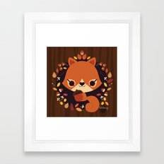 Wintertime Squirrel Framed Art Print
