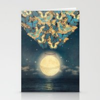 The Rising Moon  Stationery Cards