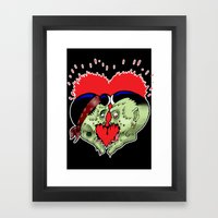 Psychobilly Heart Splatt… Framed Art Print