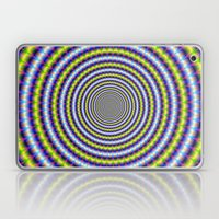 Toothed Rings In Blue An… Laptop & iPad Skin