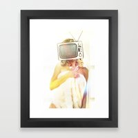 SEX ON TV - FOXY by ZZGLAM Framed Art Print