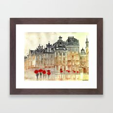 market in Brussels  Framed Art Print