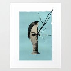 Medusa (Theme I, Blue) Art Print