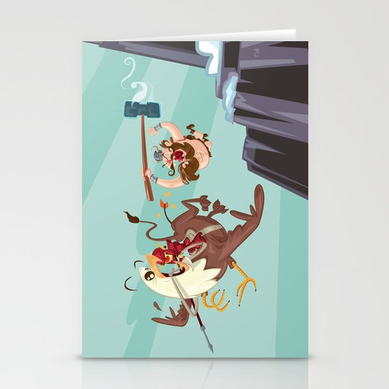 Braun Bloodstone and the Griffin Stationery Card