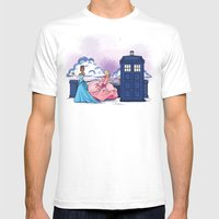 The Princess and the Doctor Mens Fitted Tee White SMALL