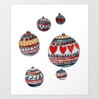 Baubles Art Print